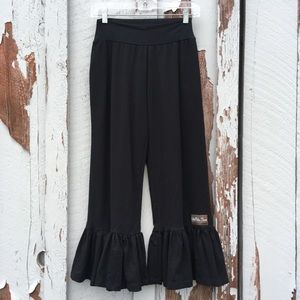 NWT Matilda Jane Small Ruffle Crop Pant Pull On